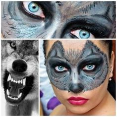 Wolf Makeup - #makeupart #wolf #wolfmask #makeupartist