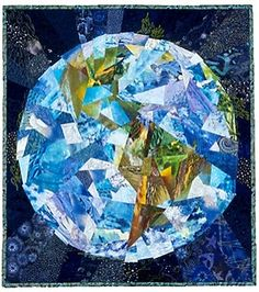 """World View, 27"""" x 30"""", by Ann Harwell (sold)"""
