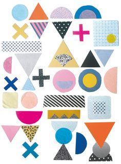 Beci Orpin - scanned sketchbook of fabric swatches