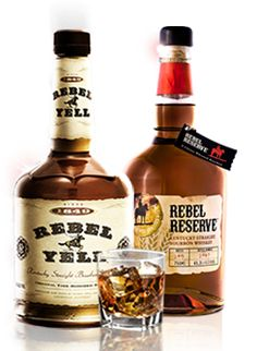 Rebel Yell Kentucky Straight Bourbon Whiskey. KA founder James Ward Wood's family still owns and operates REBEL YELL to this day.   Wheat Barley!!
