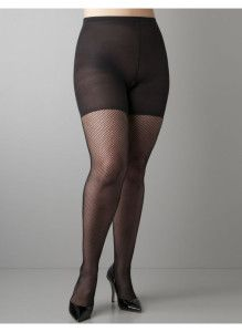 9122a6abdde87 Spanx control top fishnets in plus sizes.  plussize Fishnet Leggings