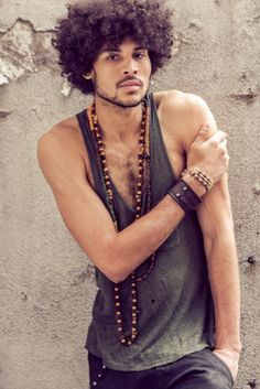 curly afro hairstyles men - Google Search