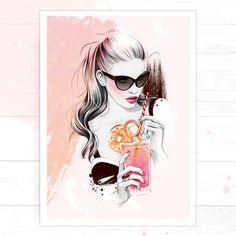 'Pink Lemonade', by Fashion Illustrator Cristina Alonso.