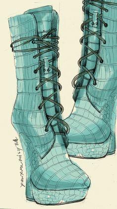 Links to fashion art - shoes Moda Fashion, Fashion Art, Fashion Shoes, Fashion Accessories, Fashion Design, Shoe Sketches, Dress Sketches, Fashion Sketches, Fashion Illustration Shoes