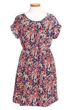 Soprano Floral Print Cap Sleeve Dress (Big Girls) available at #Nordstrom
