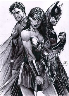 Trinity of the comic book world! Superman, Batman, Wonder Woman: The Trinity of the comic book world!Superman, Batman, Wonder Woman: The Trinity of the comic book world! Marvel Dc Comics, Heros Comics, Dc Comics Art, Dc Heroes, Comic Book Characters, Comic Character, Comic Books Art, Comic Art, Comic Movies