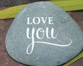 Engraved Stone, Etched Stone, Custom Engraved Stone-Love you, wedding stone engraved, oathing stones