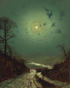 """Moonlight"" by John Atkinson Grimshaw (1836-1893)"