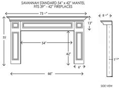 Average Fireplace Dimensions Learn Fireplace Mantels