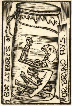 Výsledek obrázku pro ex libris váchal Ex Libris, Dance Of Death, Danse Macabre, Vanitas, Illustrations, Skull And Bones, Memento Mori, Gravure, Book Nerd