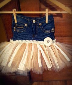 Vintage Jean Tutu Skirt by 4EverMemories on Etsy, $40.00