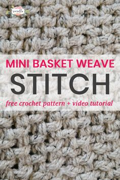 Crochet the Mini Basket Weave Stitch - an easy one row repeat with amazing texture! The warmest stitch there is, free pattern and video tutorial!
