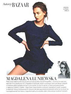 Daga Ziober wearing La Mania featured in Harper's Bazaar Polska