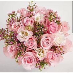 Flower Bouquet: 70 Arranging Ideas to Get Inspired! Pink Rose Bouquet, Bridal Bouquet Pink, Blush Wedding Flowers, Prom Flowers, Bride Bouquets, Bridal Flowers, Bridesmaid Bouquet, Floral Bouquets, Floral Wedding