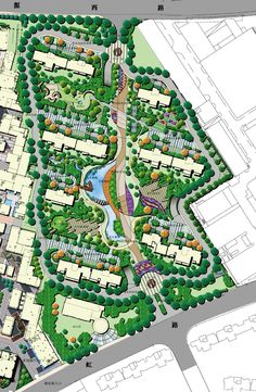 Find out the Key to Landscaping Design and make your design projects sizzle. Landscape Concept, Landscape Plans, Urban Landscape, Landscape Design, Urban Design Concept, Urban Design Plan, Plan Design, Parque Linear, Plan Maestro