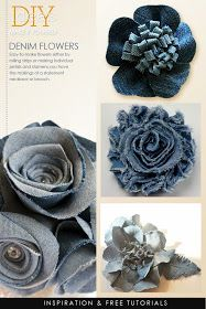 DIY Fashion - Jean Jewelry                     Large image and tutorial |  read complete Tea Rose Home tutorial here   Inset image |  Pi...