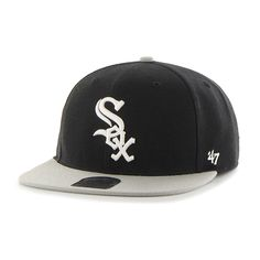 93f228aae25 Chicago White Sox Sure Shot Two Tone Captain Black 47 Brand Adjustable Hat.  Detroit GameChicago White SoxSnapback HatsCaps ...