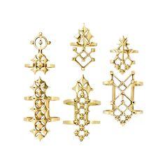 Geometrica Ringlets Set- Vermeil | N.Historiae