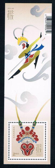 CA0744 Canada 2016 Chinese bingshen Zodiac monkey journey to the west of Peking Opera 1M 0218 new stamps