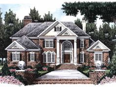 Eplans NeoClassical House Plan - Stately Columned Entrance - 4317 Square Feet and 4 Bedrooms(s) from Eplans - House Plan Code HWEPL08638