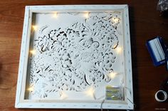 out, pop up, lighted canvas. Step by step DIY instructions on Cut out, pop up, lighted canvas. Step by step DIY instructions on Crafts For Teens To Make, Diy Arts And Crafts, Crafts To Do, Home Crafts, Diy Crafts, Cut Out Canvas, Light Up Canvas, Art Diy, Diy Wall Art