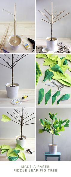 DIY árbol tropical en papel muy bien explicado