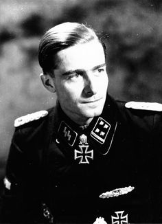 Joachim Peiper, the obersturmbannfuhrer with Knight's Cross of the Iron Cross with Oak Leaves and Swords. (via fubardays)