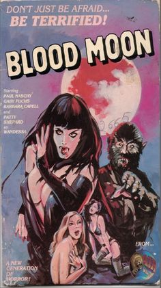 La Noche de Walpurgis AKA Blood Moon (usa video title) aka The Werewolf Versus the Vampire Woman (usa) aka Werewolf Shadow (usa dvd title) (1971) vhs cover (US)