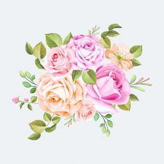 Floral bouquet wedding Premium Vector   Free Vector #Freepik #freevector #flower #frame #wedding #watercolor