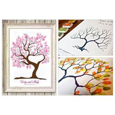 20 Creative Guest Book Ideas For Wedding Reception ❤ liked on Polyvore