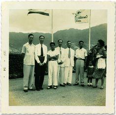 李小龍與親友在舊啟德機場留影