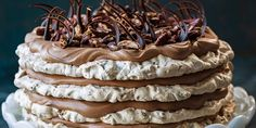 Try this Chocolate Date Meringue Cake recipe by Chef Kirsten Tibballs.