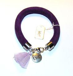 Bracelet - metal and rawhide