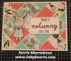Stamp of the Month Blog Hop: Easter Bunny | Inky Hearts Papercrafting #CTMHHelloLovely #ctmheasterbunny