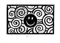 """andrea mattiello """"sorriso""""    adigrafia su carta cm 30,2x21,9; 2012"""