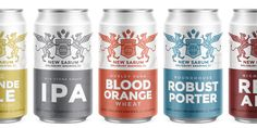 Want to expand you taste buds in the realm of beer? Try New Sarum and  prepare to loose your mind. Designed by Big Bridge, aluminum cans are  dressed in a special coat of arms.