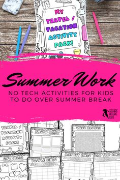 This Summer Break Activities resource is great for young students to have fun with over the summer break. Young people will undoubtedly be glued to technology this summer break. That's fine for a while, but it is healthy to give them a variety of activities to be doing whilst reflecting on their experiences. The activities in this summer break ideas pack are simple and fun to work through, require no preparation from you and will entertain them for hours! #summerbreakactivities End Of Year Activities, Guidance Lessons, Secondary School, High School Students, Young People, Teacher Resources, Technology, Teaching, Healthy