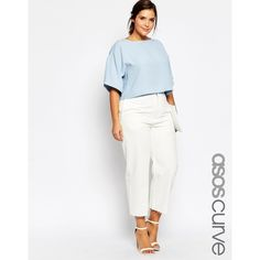 Buy ASOS CURVE High Waist Wide Leg Jeans in White at ASOS. Get the latest trends with ASOS now. Curvy Girl Outfits, Casual Outfits, Fashion Outfits, Plus Size Dresses, Plus Size Outfits, Plus Size Clothing Sale, Clothing Stores, Look Plus Size, Modelos Plus Size