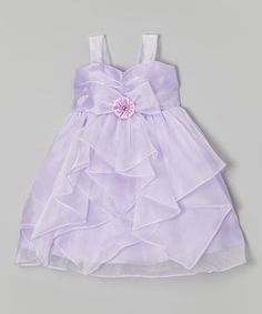 This Princess Diaries Lavender Ruffle A-Line Dress - Girls by Princess Diaries is perfect! #zulilyfinds