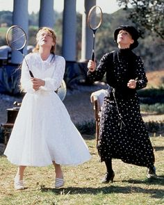 "With Glenn Close in ""The House of the Spirits"" (1993)"