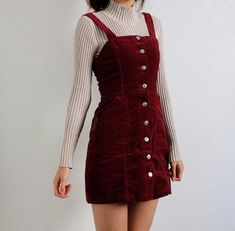 50 inspirational fall-date-night-outfits that can be worn NOW! Out-of-darkne Teen Fashion Outfits, Retro Outfits, Cute Casual Outfits, Cute Fashion, Look Fashion, Korean Fashion, Cute Vintage Outfits, Cute Dress Outfits, Winter Dress Outfits