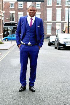 Costume homme bleu cobalt | Three piece suits! | Pinterest