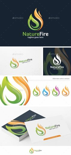 Nature Fire - Logo Template Vector EPS, AI Illustrator #logotype Download here: http://graphicriver.net/item/nature-fire-logo-template/15606144?ref=ksioks