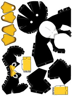 Papercraft Templates and Print Outs | This is the instructions page to make the tux papercraft…