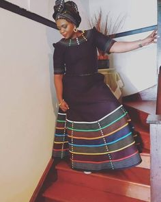 We have the latest modern Xhosa dresses online on Sunika. Discover Top Xhosa dresses designers in South Africa for your next outstanding Xhosa Wedding dress. Xhosa Attire, African Attire, South African Traditional Dresses, Traditional Outfits, Latest African Fashion Dresses, African Dresses For Women, African Inspired Fashion, African Print Fashion, Mini