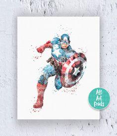 Captain America Art The Avengers Art Avengers by AllArtPrints