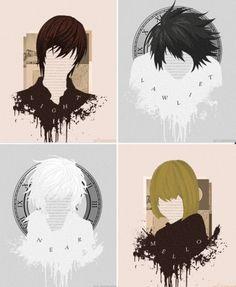 Death Note- Light, L, Near, and Mello ~*