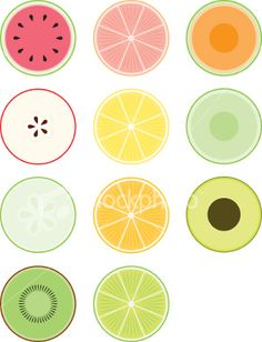 "fruit cross-sections - could make for a fun ""summer"" themed drawing"