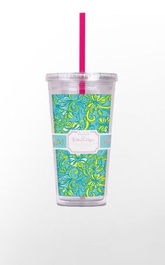 tri delta lilly pulitzer tumbler - yes please