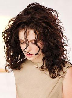 medium curly hair - Google Search
